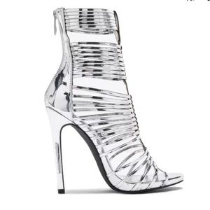 New Women Silver LILIANA Party Caged heel Sandal